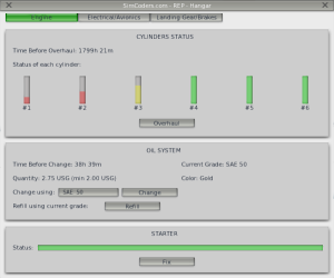 The engine management interface