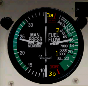 Bonanza Fuel Flow Indicator