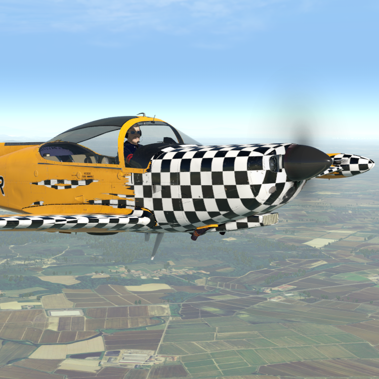 The SIAI-Marchetti SF 260D for X-Plane just landed