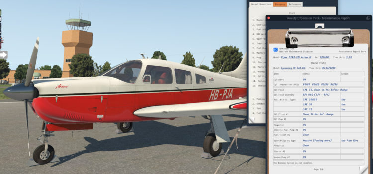 Release: Reality Expansion Pack for JustFlight Piper Arrow III